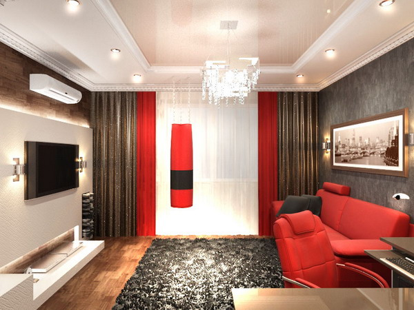Прямоугольная гостиная 16 кв м дизайн фото