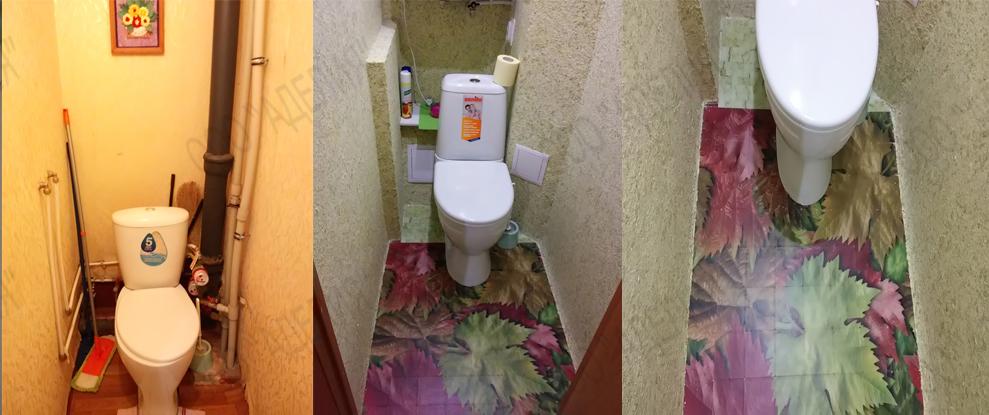 Недорогой дизайн туалета фото